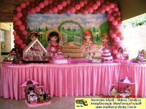 Decoração Bonecas Jolie Temas Infantis Da Mariafumaçafestas 61